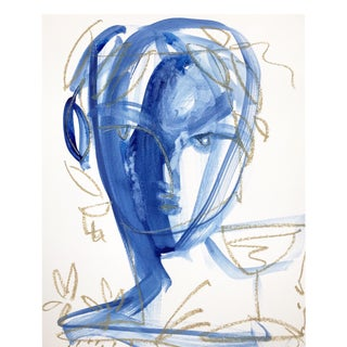 Roman Face and Wine by Leslie Weaver For Sale