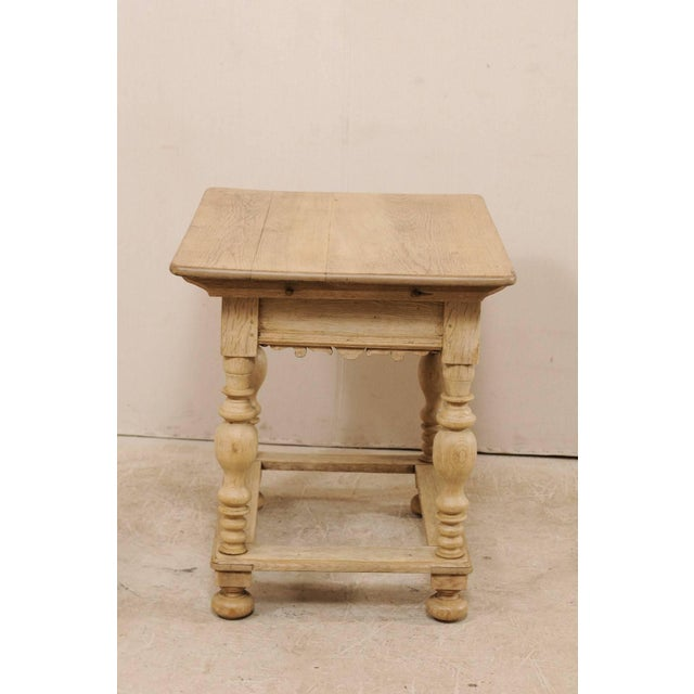 18th Century Swedish Period Baroque Wood Side Table on Turned Legs For Sale - Image 11 of 12