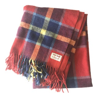 Troy Robe Plaid Wool Fringe Blanket