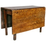 Image of George III Solid Yewwood Drop Leaf Table For Sale