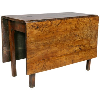 George III Solid Yewwood Drop Leaf Table For Sale