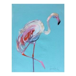 Flamingo Japanese Brush Painting