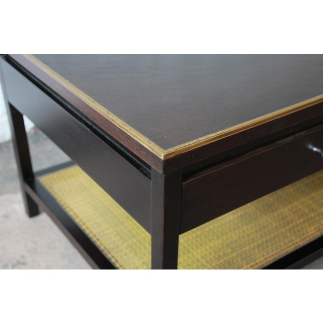 """Paul McCobb for Calvin """"Irwin Collection"""" Double-Sided Leather Top Coffee Table For Sale In South Bend - Image 6 of 13"""