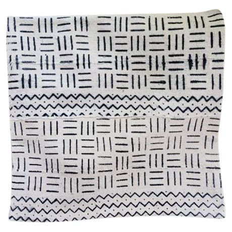 "African Mudcloth Pillow Cover 18"" X 18"" - Image 1 of 3"