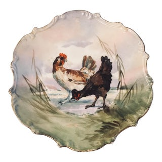 Antique Limoges Fambleau Hand Painted Plate For Sale