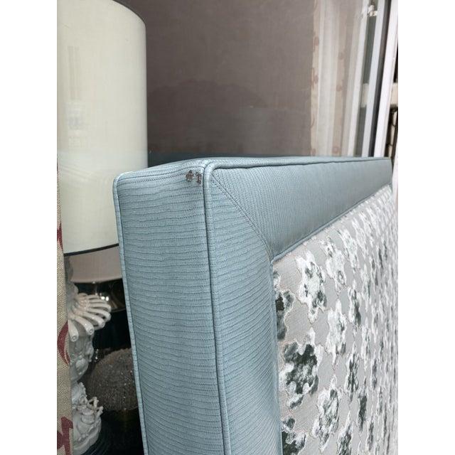 2020s Custom Queen Size Platform Upholstered Bed in Mokum Velvet For Sale - Image 5 of 12