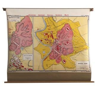 Antique School Map of Rome