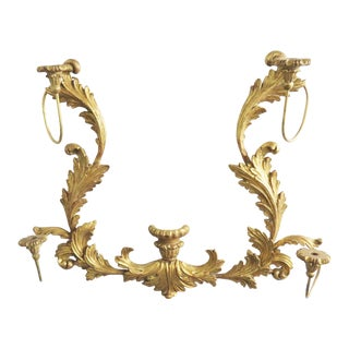 Palladio Italian Gold Gilt Wood Candle Sconce For Sale