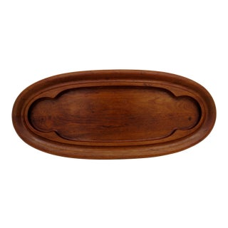 Dansk Oval Teak Wood Tray For Sale
