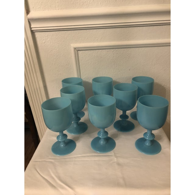 Glass Portieux Vallerysthal Water Goblets - Set of 8 For Sale - Image 7 of 7