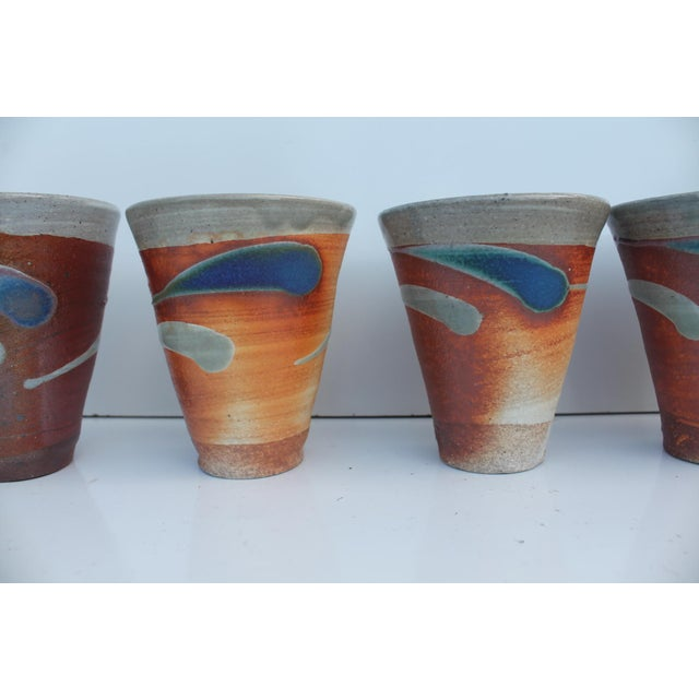 Vintage Studio Pottery Art Hand Painted Collection - Set of 10 - Image 7 of 11