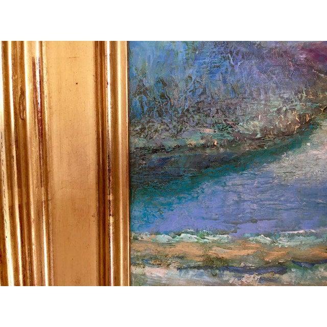 Original oil on board by Connecticut artist Jeffrey Leitz. Signed on lower left. Dimensions framed are below. Unframed...