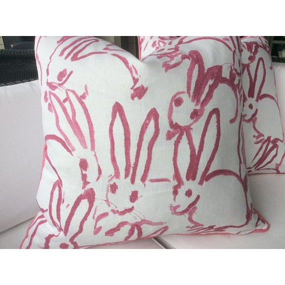 Lee Jofa Pink Lee Jofa Hunt Slonen Bunny Hutch Pillows - A Pair For Sale - Image 4 of 5