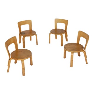 Vintage Alvar Aalto Childs Chairs N65 From Icf Scandinavian Design Four Available For Sale