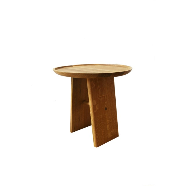 2010s Slant Wooden Minimalist Table For Sale - Image 5 of 8