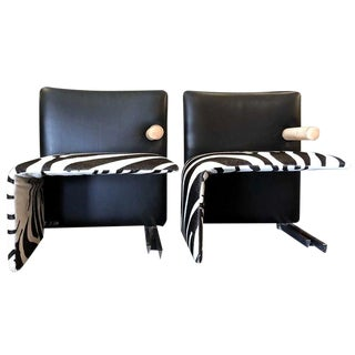 1950s Italian Antonio Citterio Waterfall Seats - a Pair For Sale