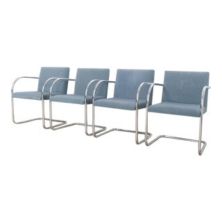 Mies Van Der Rohe Blue Brno Chairs For Sale