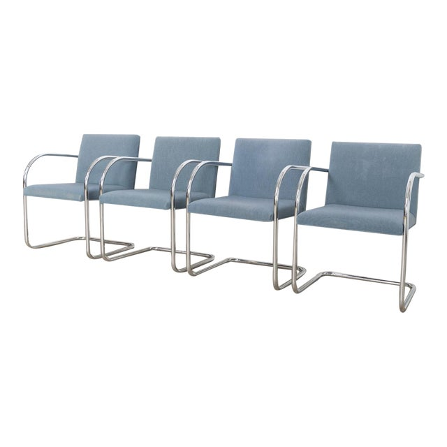 Mies Van Der Rohe Blue Brno Chairs Chairish
