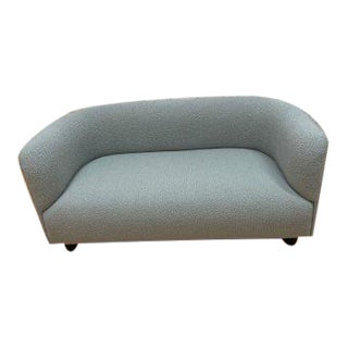 Mid Century Modern Ward Bennett Cartouche Styled Curved Sofa by Ligne Roset Newly Upholstered For Sale