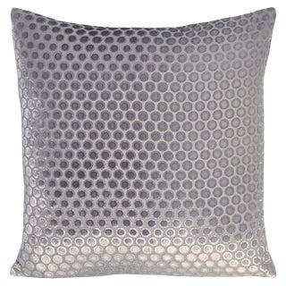 Silver Dots Velvet Pillow