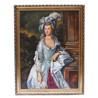 Ed J. Dollriehs Oil Painting of Victorian Woman Portrait For Sale