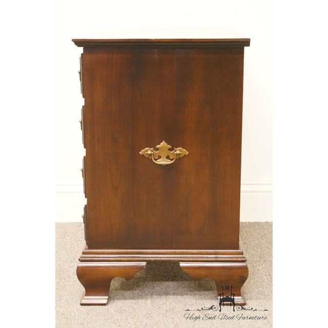 Chippendale Style 4 Drawer Solid Mahogany Accent Chest For Sale - Image 9 of 13
