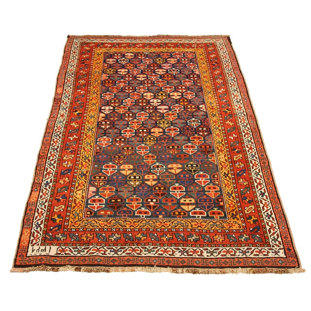 Russian area rug handwoven from the finest sheep's wool. It's colored with all-natural vegetable dyes that are safe for...