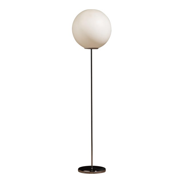 1970s Vintage Neal Small for Sonneman Lollipop Globe Floor Lamp For Sale