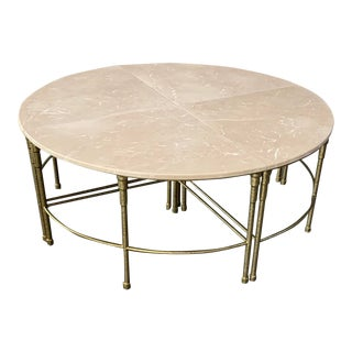 """Contemporary Mercer Round Marble Coffee Table by Gabby-Touch of Pink"""" For Sale"""