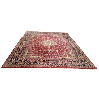 Persian Mahal Handmade Knotted Rug - 11' X 13'7'' - Size Cat. 10x14 12x15 For Sale