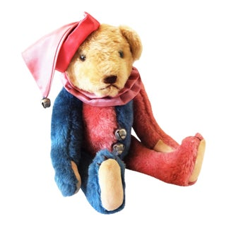 1980s Harlequin Collector's Teddy Bear For Sale