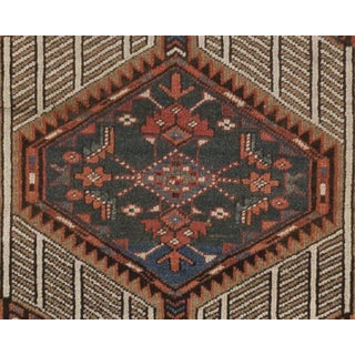 """Antique Persian Geometric Rug - 3'1"""" x 6'8"""" Preview"""