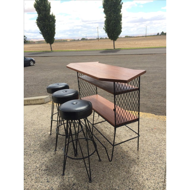 Frederick Weinberg-Attributed Bar & Bar Stools - Image 2 of 7