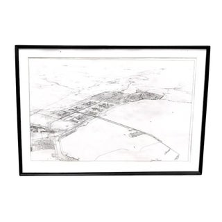 Large Mid Century Architectural Drawing - Jubail Project For Sale
