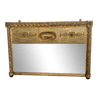19th Century English Giltwood Mirror With Shell For Sale