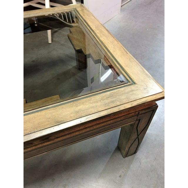 Southwestern Beveled Glass Coffee Table - Image 7 of 11