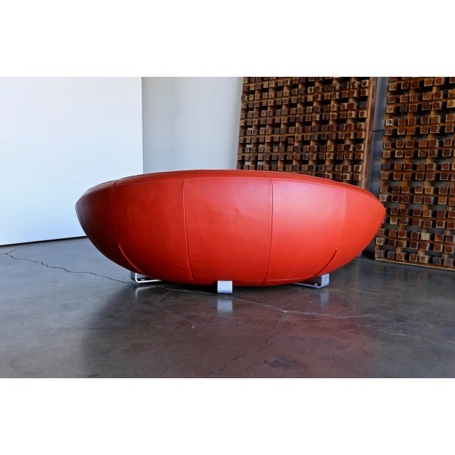 Red Jane Worthington DS 152 Red Leather Sofa for De Sede For Sale - Image 8 of 13