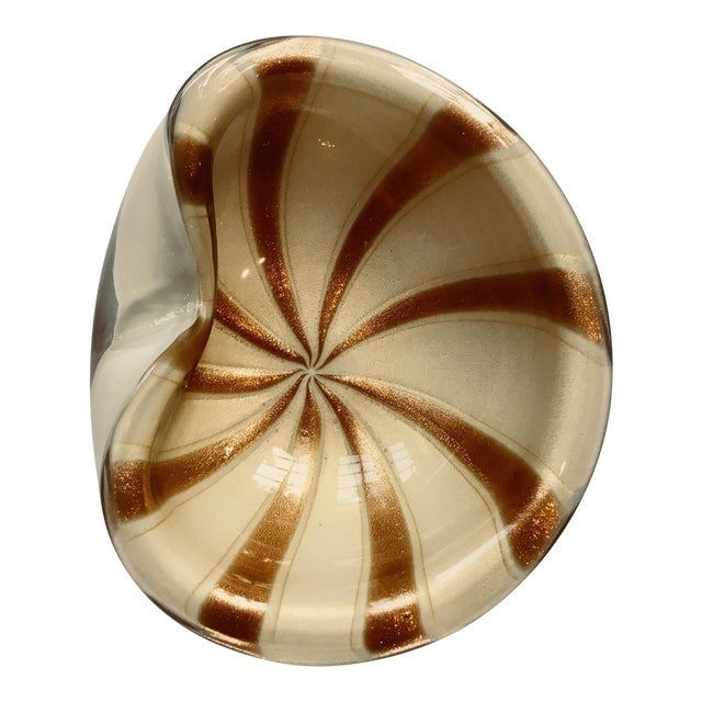 Murano Glass Gold Variegated Candy Nut Dish Chairish
