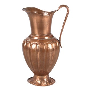 French Copper Pitcher or Umbrella Holder, 1950s For Sale