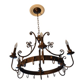 1990s Chandelier Pot Rack For Sale