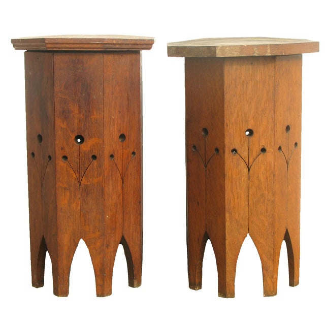 Wood Near Pair of Moroccan Octagonal Accent Tables For Sale - Image 7 of 7