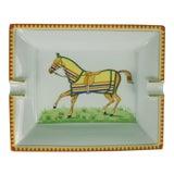 Image of Hermes Horse Blanket Ashtray For Sale