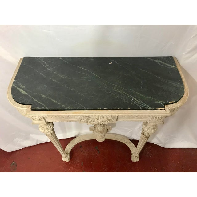 Louis XVI Style Painted Consoles a Pair For Sale - Image 6 of 13