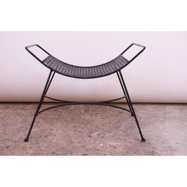 Mid-Century Modern Iron Footstool / Ottoman For Sale - Image 9 of 12