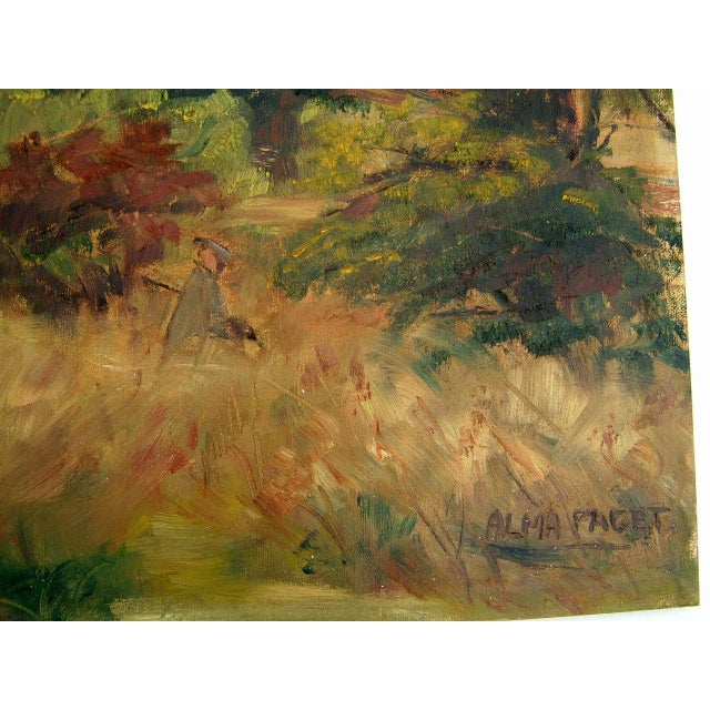 Impressionism Mid-Century Landscape Painting For Sale - Image 3 of 4