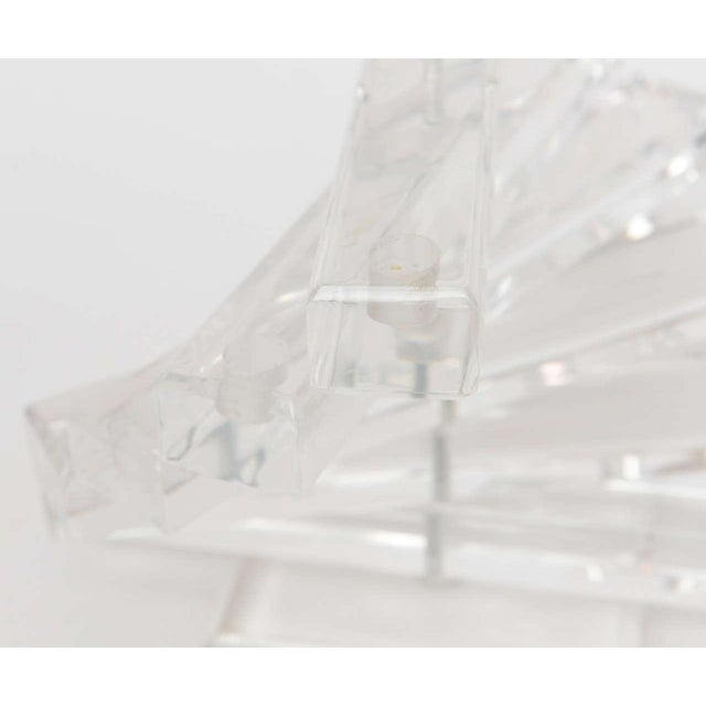 """Lucite """" Spiral Staircase"""" Sculptural 12 Light Candelabra For Sale - Image 4 of 11"""