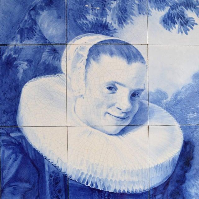 Rare Delft Tile Mosaic - Image 3 of 7