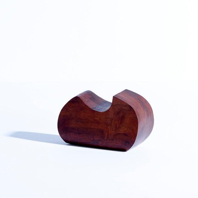 Vintage Freeform Hand Carved Walnut Sculpture For Sale - Image 4 of 4