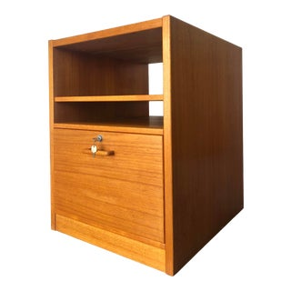 Vintage Mid Century Danish Modern File Cabinet For Sale