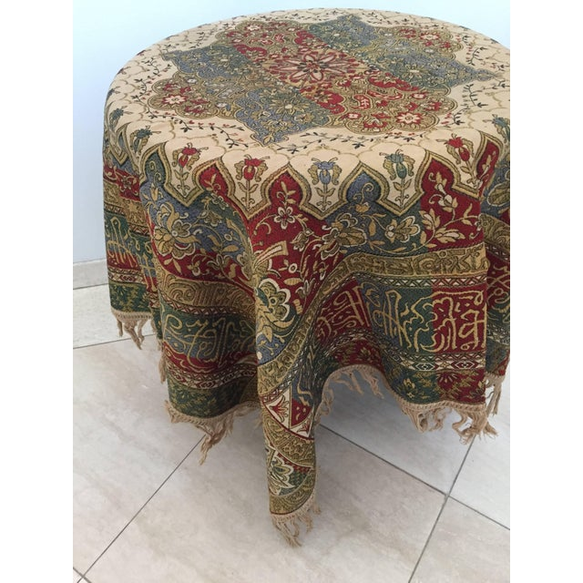 Granada Islamic Spain Textile With Arabic Calligraphy Writing For Sale In Los Angeles - Image 6 of 10